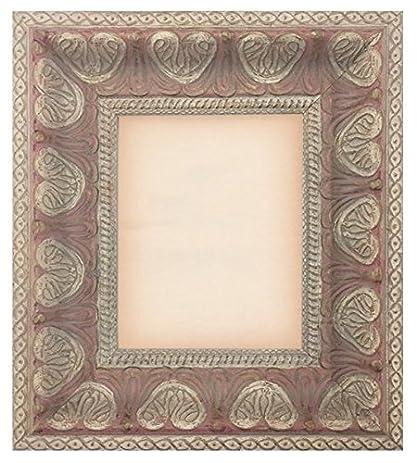 Amazon.com - Ornate Pink & Cream Leaf Pattern Baroque Picture Frame ...