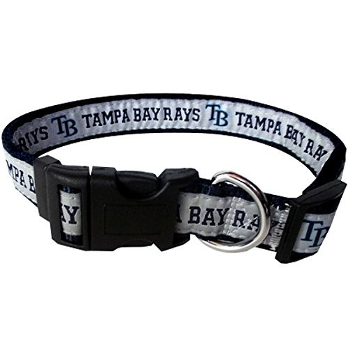 Tampa Bay Rays Nylon Collar for Pets (MLB Official by Pets First) Size Large - Official Mlb Tampa Bay