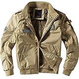 Henreiba Winter Bomber Jackets Mens Army Military Outerwear Jacket Fleece Thick
