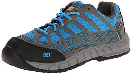 Caterpillar Women's Streamline Comp Toe Work Shoe, Blue, 7.5 M US by Caterpillar
