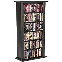 Venture Horizon Single Media Storage Tower Bookcase-Black