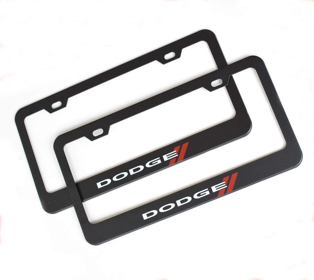 Auto Sport 2pcs License Plate Frames with Screw Caps Set Stainless Steel Frame Applicable to US Standard Cars License Plate Fit Land Rover Accessory