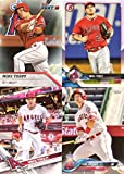 #6: Mike Trout Lot of 4 Original, Authentic Baseball Cards: 2016 Topps Bunt, 2017 Topps, 2018 Topps Angels, and 2018 Bowman