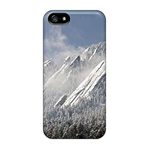 JackieAchar Perfect Tpu Case For Iphone 5/5s/ Anti-scratch Protector Case (magnificent Cliffs In Winter)