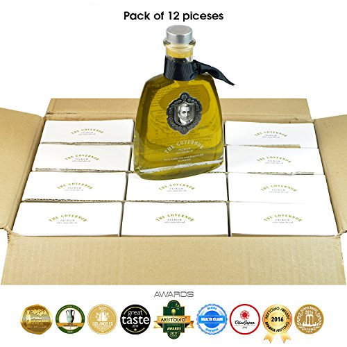 The Governor, Premium Unfiltered Extra Virgin Olive Oil | Olive Oil Polyphenols with Robust Health-Giving Properties | Cold-Pressed Olive Oil |Luxury Glass Bottle 500ml (Pack of 12) by The Governor (Image #9)
