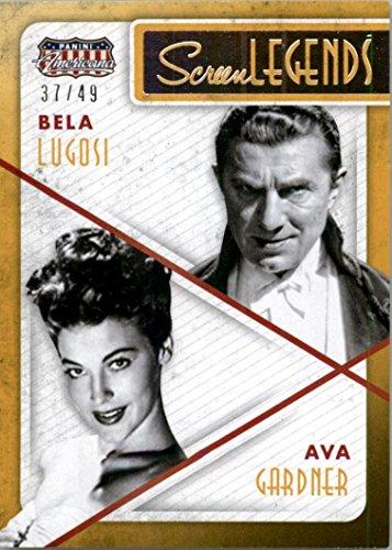 2015 Americana Screen Legends Co Stars Gold  17 Ava Gardner Bela Lugosi  49   Nm Mt