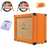 Orange Crush 35RT Guitar Combo Amplifier Bundle with Orange FS-1 Footswitch, Instrument Cables, and Austin Bazaar Polishing Cloth