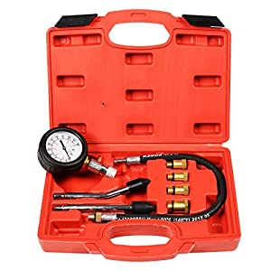 New 8pc Petrol Engine Cylinder Compression Tester Kit Automotive Tool Gauge