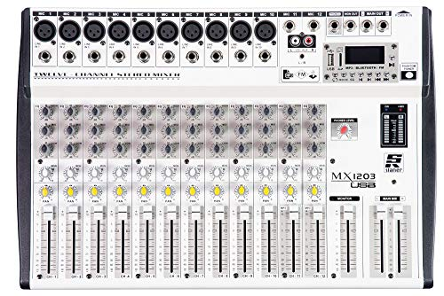 MESA DE SOM STANER 12 CANAIS MX-1203 USB