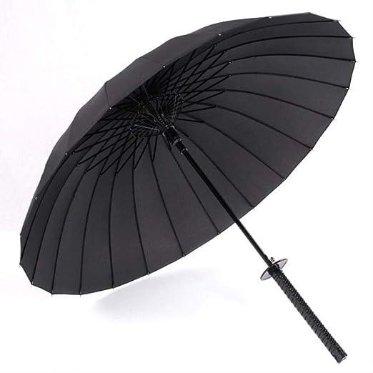 Non-branded Elegante Black Samurai Ninja Sword Paraguas de ...