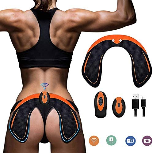 Ben Belle Abs Stimulator Hips Trainer,Electronic Backside Muscle Toner,Smart Training Wearable Buttock Toner Trainer for Men Women