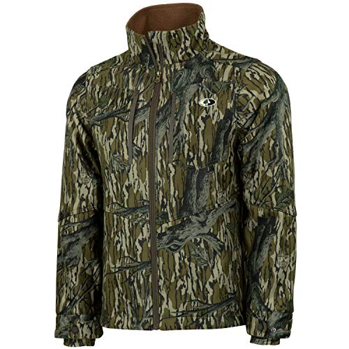 Mossy Oak Men's Camo Sherpa 2.0 Fleece Lined Hunting Jacket in Multiple Patterns