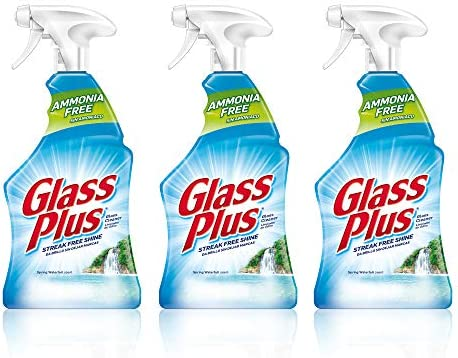 Glass Plus Glass Cleaner, 32 fl oz. Bottle, Multi-Surface Glass Cleaner (Pack of three)