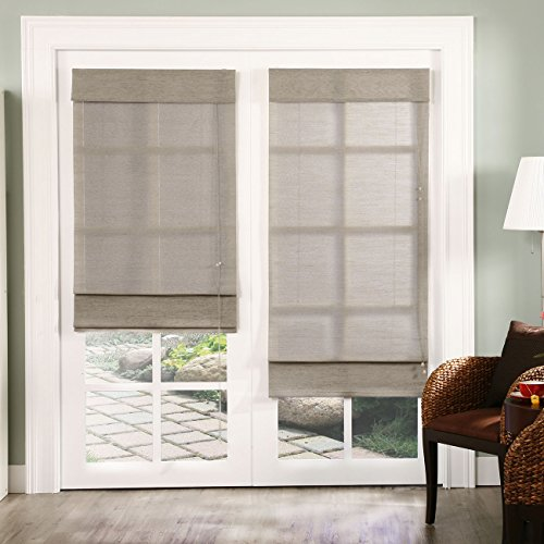 Chicology Standard Cord Lift Roman Shades Jute Fabric Window Blind 48
