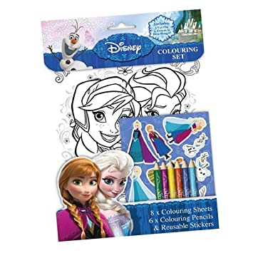 Disney Frozen Colouring Set Childrens Activity Stickers Stocking Filler Gift