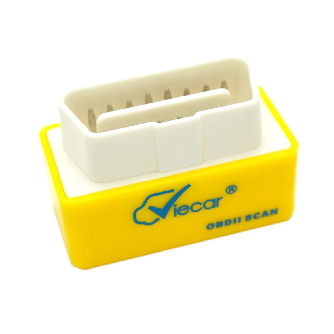 Funnyrunstore Mise à niveau de la qualité VC001-A1.5 / B2.1 Bluetooth 2.0 OBD2 Instrument de litige automobile Outil de diagnostic de scanner de voiture (jaune)