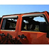 Rugged Ridge 11349.12 Matte Black Acrylic Front and