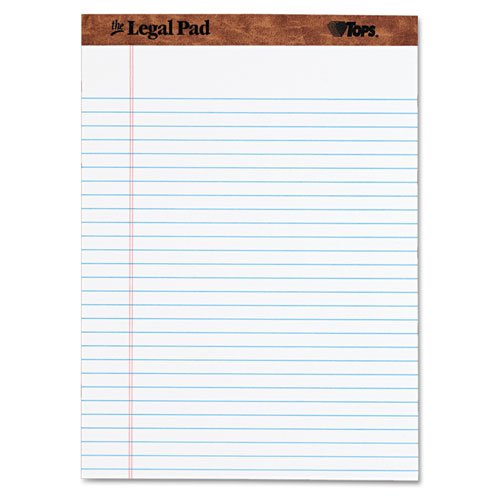 12 Pack TOPS The Legal Pad Writing Pads 50 Sheets 7533 Legal Rule 8-1//2 x 11-3//4