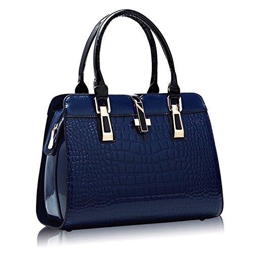 single Threaded Animal paint shoulder package red Pipulade bag the blue female Sky handbag leather 0645Uq