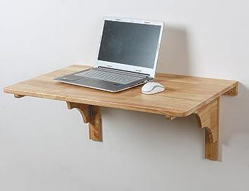 Table pliante table murale bois massif bureau informatique table à