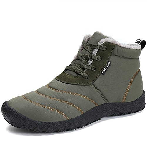 Waterproof 2018 Boots shoes Outdoor Snow Womens Winter Insulated Khaki IqwrxqfR4c