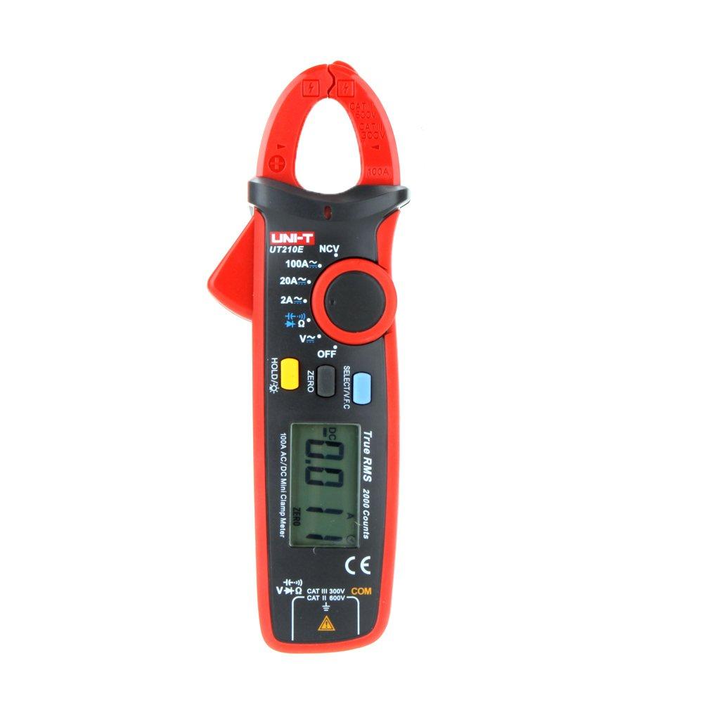 Signstek UNI-T UT210E Multimetro a pinza portatile tester per capacit/à e resistenza digitale RMS AC//DC mini