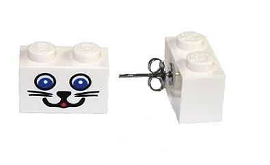 Baby Keepsakes & Baby Announcements 2x2 Lego Brick Fun Lego® White Dangle Earrings