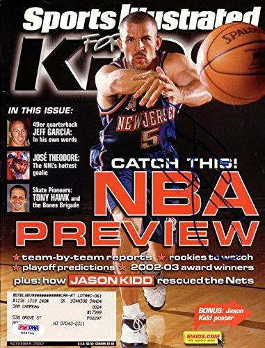 Jason Kidd Autographed Sports Illustrated Magazine New Jersey Nets #X64794 PSA/DNA Certified Autographed NBA Magazines