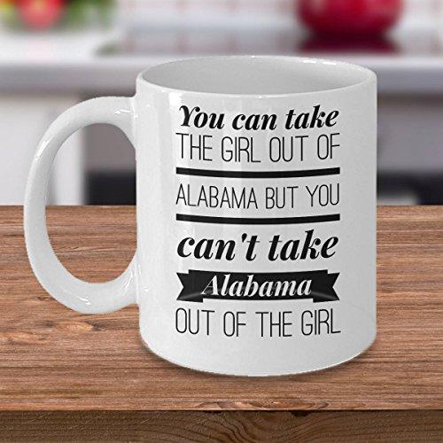 LIZNICE - Alabama Coffee Mug - Gift for Alabamian - The Cotton State - You Can Take The Girl Out Of Alabama But You Can't Take Alabama, MUG (Wholesale Kona Cotton)