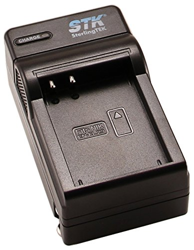 STK EN-EL23 Charger for Nikon Coolpix P900, B700, P610, P600, S810c Cameras, EN-EL23 Battery, MH-67P Charger
