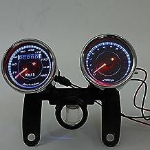 Motorcycle Odometer Speedometer Tachometer LED for Yamaha SR XV RX Cafe Racer Suzuki Honda Harley by Tmsuschina