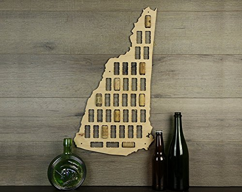 - WenNuNa Wine Cork Traps State of New Hampshire Wine Cork Decorative Wooden Organizer Cork Holder