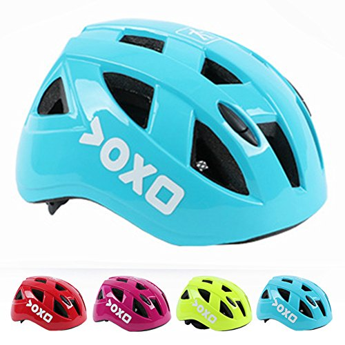 Kolodo Kids/Teenager Roller Skating Bicycle Helmet Family Cycling Safety Breathable Bike Helmet Adjustable Children Safety Protection for Girls And Boys By Light blue, M(20.4