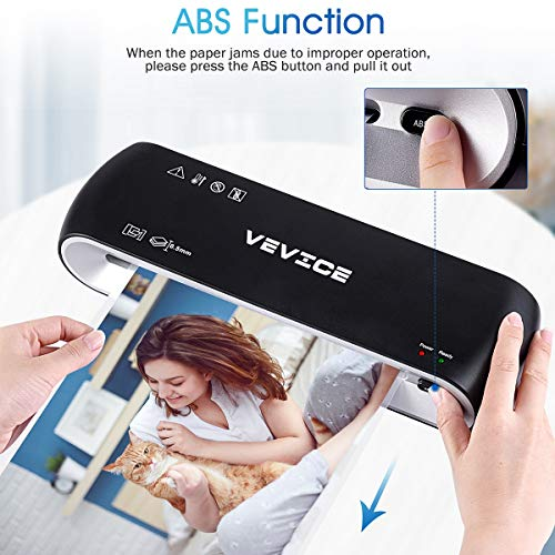 Laminator VEVICE A4 Laminator 4 in 1 Thermal Laminator 9 inches 20 Laminating Pouches Paper Trimmer Corner Rounder for Home Office School