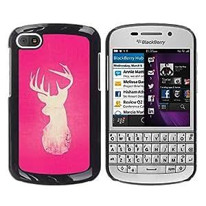 For BlackBerry Q10 Case , Pink White Nature Minimalist Winter - Diseño Patrón Teléfono Caso Cubierta Case Bumper Duro Protección Case Cover Funda
