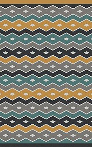 Surya Aimee Wilder NTV7003-58 Hand Woven Geometric Area Rug, 5-Feet by 8-Feet, Gray/Gold/Teal/Navy/Sea Foam