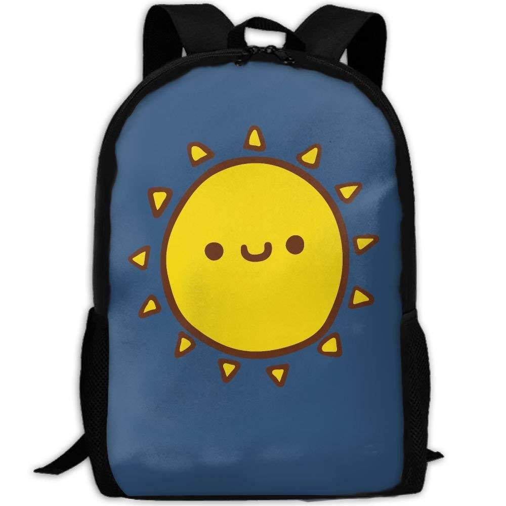キッズバックパック スペース 猫 アウトドア 学校 バックパック クールバッグ キャンパス デイパック ギフト 11x6.3x17inches サン(Sun) B07GGWDF2R