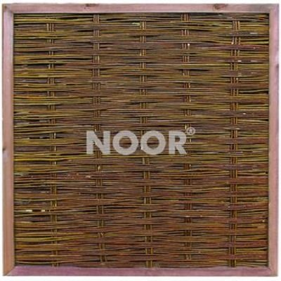 2 Stück NOOR Weidenzaun Deluxe 120 x 120 cm