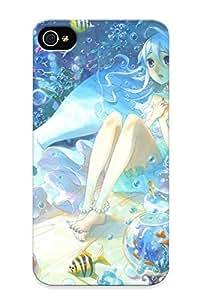 Improviselike Premium Anime Mermaid Heavy-duty Protection Design Case For Iphone 4/4s