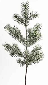 Package of 12- Artificial Snowy Holiday Angel Pine Picks - Perfect for Winter Floral Arrangements, Weddings, and Any Winter Decor!