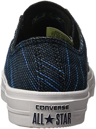 bf58a0ec73ec Converse Chuck Taylor All Star II Ox Knit Black Spray Paint Blue 151091C  Size 9. Loading images... Back. Double-tap to zoom