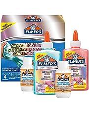 Elmer's Metallic slime kit | tillbehör för slem innehåller metalliskt PVA-lim och magisk slem-aktivatorlösning | 4-delat kit