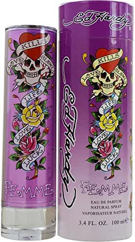 ED HARDY Femme Christian Audigier Eau de Parfum Spray for Women, 3.4 Fluid Ounce
