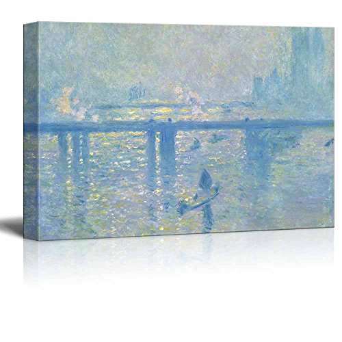 Charing Cross Bridge by Claude Monet Print Famous Painting Reproduction
