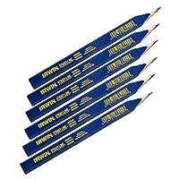 IRWIN Tools STRAIT-LINE 66400 Lápiz de carpintero, medio conductor, juego de 6 piezas (66400)