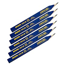 IRWIN Tools STRAIT-LINE 66400 Carpenter's Pencil, Medium Lead, 6-Piece Set (66400)