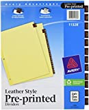 Avery AVE - Clear Reinforced Red Leather Tab Dividers (11328)