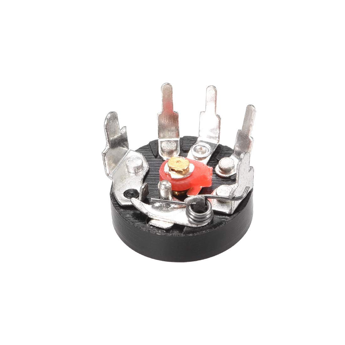 Wheel Potentiometer with B10K Ohm Switch Variable Single-Turn resistors Rotary Film Carbon Taper RV12MM 20pcs