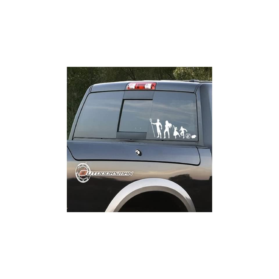 Family Angel and Devil Stick People Kit Car or Wall Vinyl