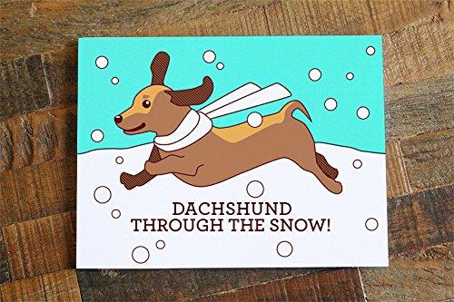 Dog Christmas Puns.Dachshund Christmas Card Dachshund Through The Snow Pun Card Cute Christmas Card Dog Card Happy Holidays Card Funny Christmas Card